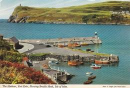 Postcard The Harbour Port Erin Showing Bradda Head Isle Of Man [ Fishing Boats ] By John Hinde PU 1972  My Ref  B11951 - Isle Of Man