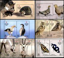 (199-204) Oman (sultanate)  2016 / Fauna / Animals Sheets / Bf / Blocs / Tiere / Dieren  ** / Mnh  Michel BL 86-91 - Oman