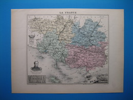 (1870) Carte Géographique Du MORBIHAN (Authentique Document De 1870) - Vieux Papiers