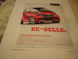 PUBLICITE AFFICHE VOITURE SMART - Cars