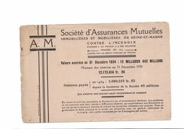 Buvard  SOCIETE D ASSURANCES MUTUELLES - Bank & Insurance