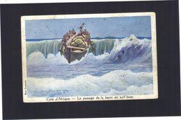 Côte D'Afrique . Le Passage De La Barre En Surf-boat.  HAFFNER . Editée Par La Ligue Maritime Et Coloniale . - Paintings