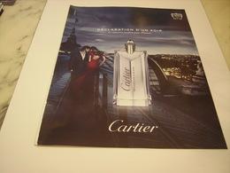 PUBLICITE AFFICHE PARFUM DECLARATION D UN SOIR DE CARTIER - Perfume & Beauty