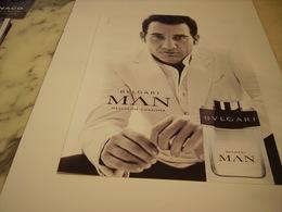 PUBLICITE AFFICHE PARFUM MAN DE BULGARI - Perfume & Beauty