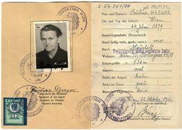 Austria 1946 - Identitätsausweis - Identity Card - Carte D'identité - Revenue Stamps