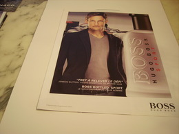 PUBLICITE AFFICHE PARFUM HUGO BOSS AVEC JENSON BUTTON - Perfume & Beauty