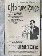 Partition Musicale L' Homme Rouge Berard - Scores & Partitions