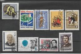 RUSSIE / URSS Année 1963 / Vrac De 9 Timbres OBLITERES  YT  2679, 2689, 2698, 2700, 2701, 2702, 2707, 2709 Et 2710 - Oblitérés