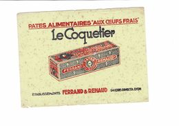 Buvard   PATES ALIMENTAIRES AUX OEUFS FRAIS LE COQUETIER  FERRAND& RENAUD - Food