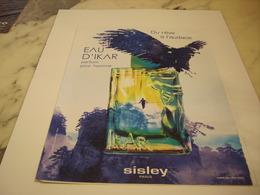 PUBLICITE AFFICHE PARFUM EAU D IKAR DE SISLEY - Perfume & Beauty