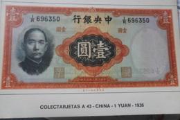 China Bank Note Yuan - Monnaies (représentations)