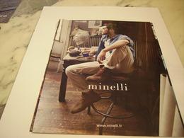 PUBLICITE AFFICHE VETEMENT MINELLI - Vintage Clothes & Linen