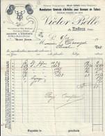 26 - DROME -  EROME - FACTURE/LETTRE - 1910 -  ARTICLES BUREAUX TABAC/VICTOR BELLE - France