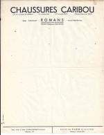 26 - DROME - ROMANS - FACTURE/LETTRE - NEUVE -  CHAUSSURES CARIBOU - France
