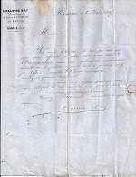 26 - DROME - TAIN L'HERMITAGE - FACTURE/LETTRE - 1865 -  DELOCHE & Cie - France