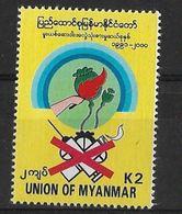 MYANMAR 2001  Anti Drugs - Myanmar (Burma 1948-...)