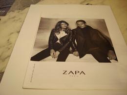 PUBLICITE AFFICHE VETEMENT ZAPPA - Vintage Clothes & Linen