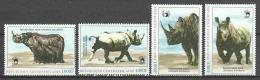 Central African Republic MH - BLACK RHINOS - Rhinozerosse