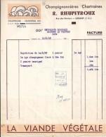 28 - EURE ET LOIR  - LUISANT - FACTURE/LETTRE - 1949 - CHAMPIGNONS RIEUPEYROUX - France