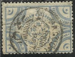 EGYPT EGITTO 1892 REVENUE STAMP SALT DEPARTMENT EGYPTIAN GOVERNMENT 10m USATO USED OBLITERE' - 1866-1914 Khédivat D'Égypte
