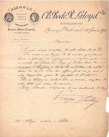 59 QUESNOY SUR DEULE COURRIER  1892  DISTILLATEURS BODE & LALOY  Alcools De Betteraves Potasses   * Z74 - France