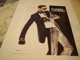 PUBLICITE AFFICHE VETEMENT KARL LAGERFELD - Vintage Clothes & Linen