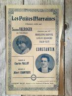 Partition Musicale Les Petites Marraines Chanson Militaire Suzanne Valroger Constantin - Scores & Partitions