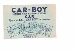 Buvard  CAR BOY  REGLISSE CHEWING - GUM BOISSON - Buvards, Protège-cahiers Illustrés