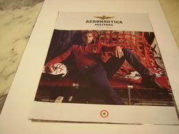PUBLICITE AFFICHE VETEMENT AERONAUTICA - Vintage Clothes & Linen