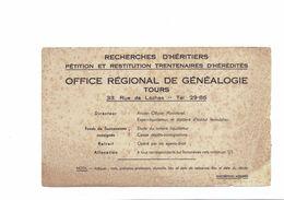 Buvard   OFFICE REGIONAL DE GENEALOGIE TOURS - Blotters