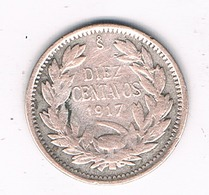 10 CENTAVOS 1917 (mintage 735726ex.)  CHILI /1019G/ - Chile