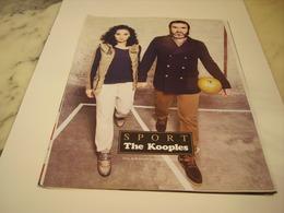 PUBLICITE AFFICHE VETEMENT THE KOOPLES AVEC CANTONA - Vintage Clothes & Linen