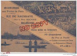 Au Plus Rapide Carte De Visite Publicité Chez Lz Père Michau Ballancourt Essonne - Visiting Cards