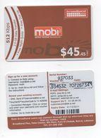 2 Internet Used Card Mobi 2011 Lebanon , Liban Libano - Liban