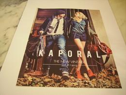 PUBLICITE AFFICHE VETEMENT KAPORAL JEANS - Vintage Clothes & Linen