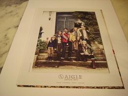 PUBLICITE AFFICHE VETEMENT AIGLE - Vintage Clothes & Linen