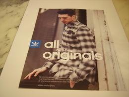 PUBLICITE AFFICHE VETEMENT ADIDAS - Vintage Clothes & Linen