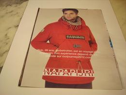 PUBLICITE AFFICHE VETEMENT NAPAPIJRI - Vintage Clothes & Linen