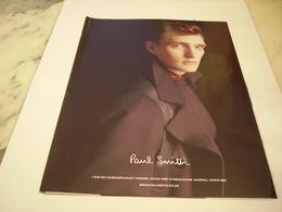 PUBLICITE AFFICHE VETEMENT PAUL SMITH - Vintage Clothes & Linen