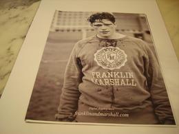 PUBLICITE AFFICHE VETEMENT FRANKLIN MARSHALL - Vintage Clothes & Linen