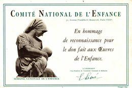 Buvard   COMITE NATIONAL DE L ENFANCE - Blotters
