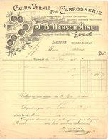 93 BAGNOLET FACTURE 1912 CUIRS Vernis Pour Carrosserie HARSCH    * Z74 - France