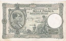 Belgique - Billet De 1000 Francs Ou 200 Belgas - Albert Ier Et Reine Elisabeth - 23 Avril 1942 - 1000 Francs & 1000 Francs-200 Belgas