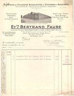 92 PUTEAUX FACTURE1931 Fabrique De Coussins Pour Automobiles Ets BERTRAND FAURE    * Z74 - France