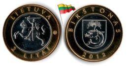 Lituanie - 2 Litai 2012 (UNC - Birstonas) - Lithuania