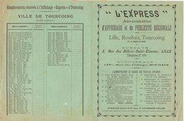 """59 TOURCOING AFFICHAGE Et Publicité Régionale """" L' EXPRESS """"  Affiches GAILLARD    * Z74 - France"""