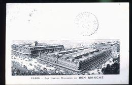 PARIS AU BON MARCHE               AVEC LA SIGNATURE DU DIRECTEUR 1923 - Petits Métiers à Paris