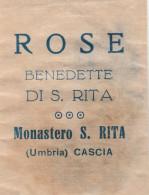 SANTINO HOLY CARD RELIQUIA ROSE BENEDETTE DI S.RITA (48N - Andachtsbilder