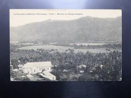 C.P.A. Nouvelle Calédonie THIO Mission Et Village Indigène - New Caledonia
