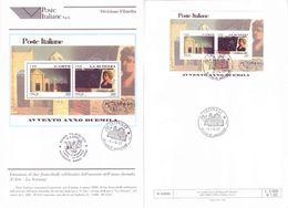 Italia 2000 - Avvento Duemila. Bollettino 06 (Arte E Scienza) Con Foglietto E Annullo FDC - 1991-00: Usati